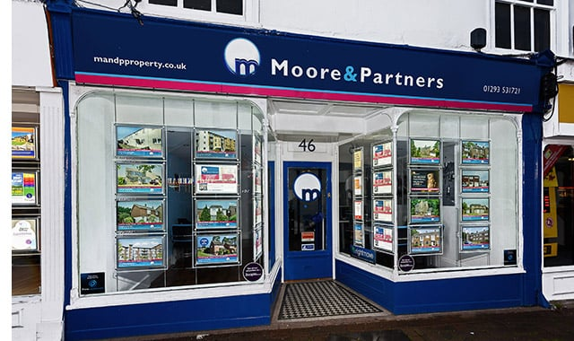 Moore and Partners Estate Agents Office in Crawley